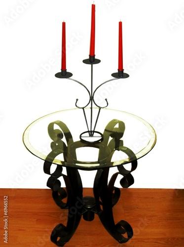 Table en fer forg avec dessus en vitre from fotogis le for Table fer forge ikea