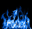 Leinwandbild Motiv Blue flames