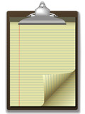 Clipboard Yellow Legal Pad Corner Paper Page Curl poster