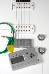 Guitar pickups and tuner