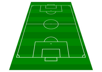 Football Pitch - Perspective View