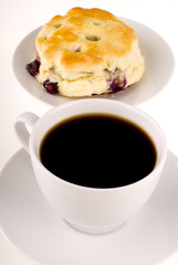 Blueberry Scone And Coffee
