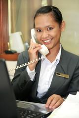 customer service, career women or secretary at work