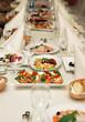 Restaurant wedding banquet table