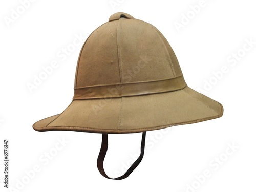 A Traditional Army Pith Helmet.