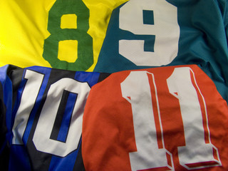 uniform with differen numbers
