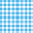 Seamless blue gingham repeat pattern with fabric texture