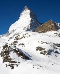 Famous Matterhorn. Swizz side