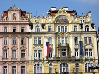 Historische Fassaden in Prag
