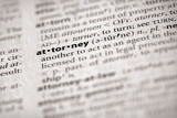 Dictionary Series - Law: attorney poster