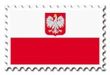 Timbre Drapeau de la Pologne