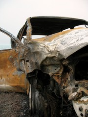 Wreck of a Burned out Car