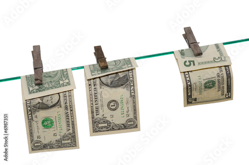 Banknotes on a Clothes Line