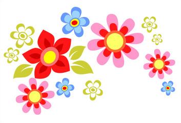 spring flower composition