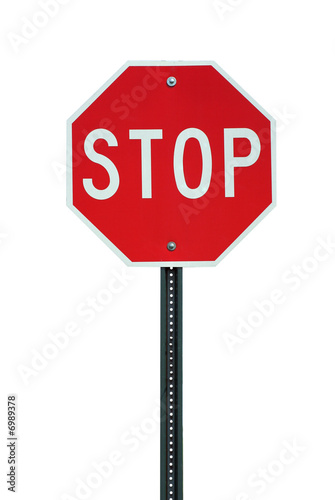 Isolated stop sign