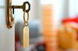 canvas print picture - key-lock-door