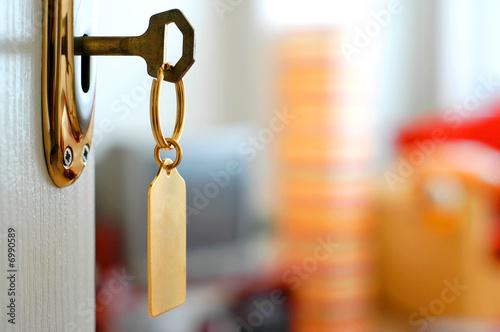 canvas print picture key-lock-door