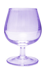violet wine glass with path for background cutting