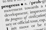 Progress word dictionary definition poster