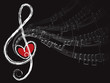 treble love and music notes