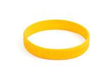 yellow silicone wristband poster