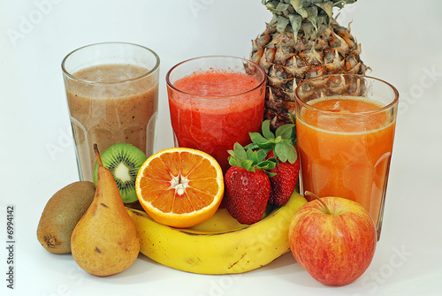 Fruit Juice with Kiwi Strawberry Orange Apple Pear and Pineapple