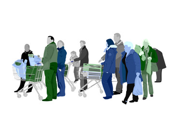 several people shopping