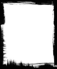 Black Brush Frame