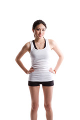 Asian woman exercising