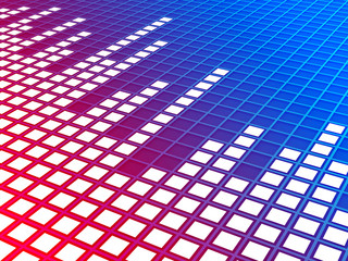 Music equalizer background. Rendered image.