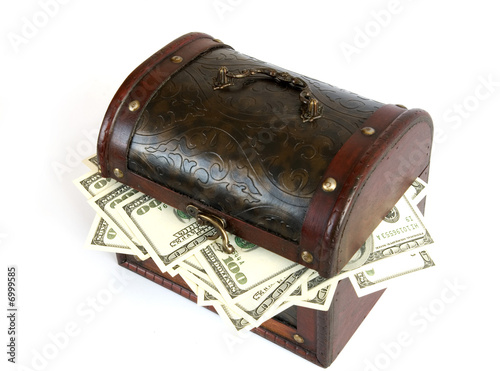 casket  with money