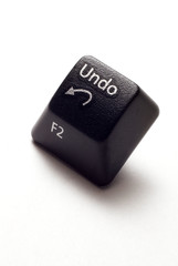 An undo button from computer keyboard.
