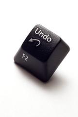 An undo button from computer keyboard.