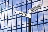 Fototapety Sales & Marketing business signpost