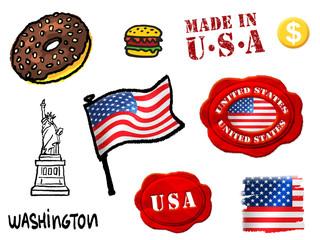 U S A symbols