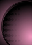 Abstract background in magenta and pink with halftone dots poster