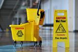 Caution Wet Floor poster