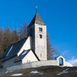 Alpine village Church, Switzerland