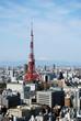 tokyo tower and mount fuji
