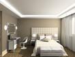 3D render modern interior of bedroom