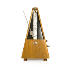 musical metronome on a white background