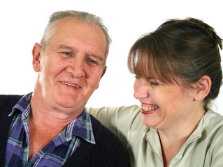 Father Laughing With Daughter