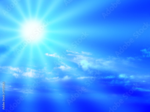 canvas print picture blue sky and sunbeam