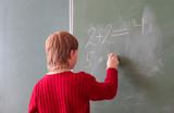 boy by the blackboard  poster