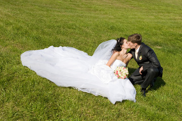 kiss on the grass