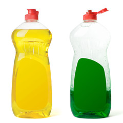 Bottles dishwashing liquid