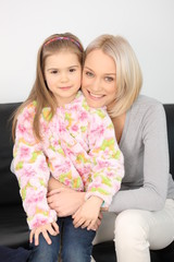 Beautiful mother with her daughter 2