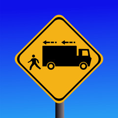 trucks reversing sign