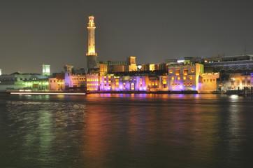 United Arab Emirates: Bur  Dubai at night