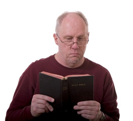 Older Man Reading Bible